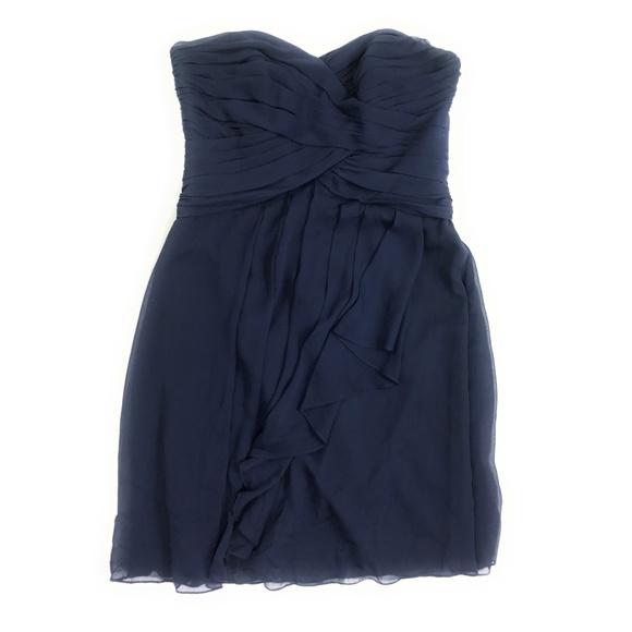 d2eb13212ab2 David's Bridal Dresses & Skirts - David's Bridal F14847 Strapless Dress  Marine Blue